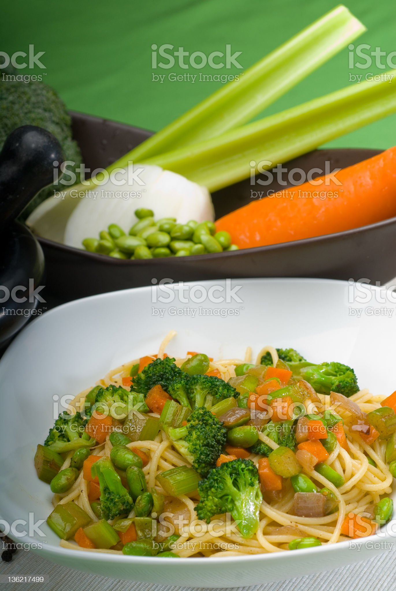 vegetable pasta royalty-free stock photo