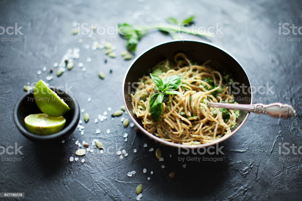 Vegetable pasta stock photo