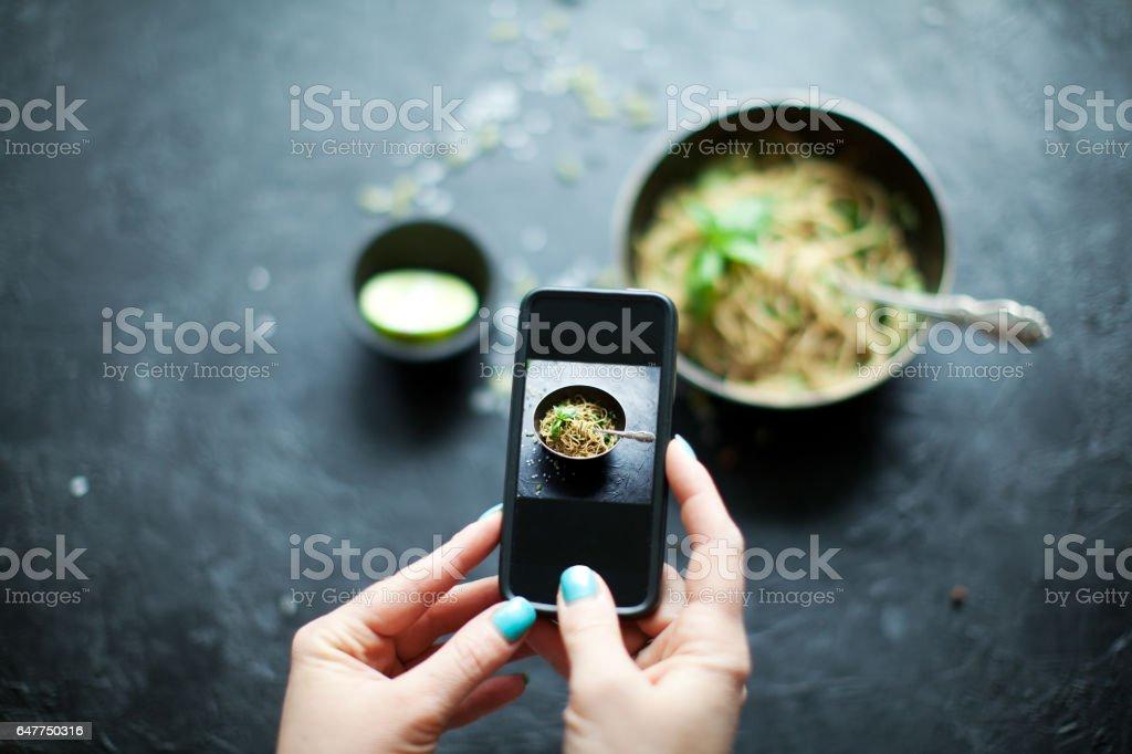 Vegetable pasta stock photo