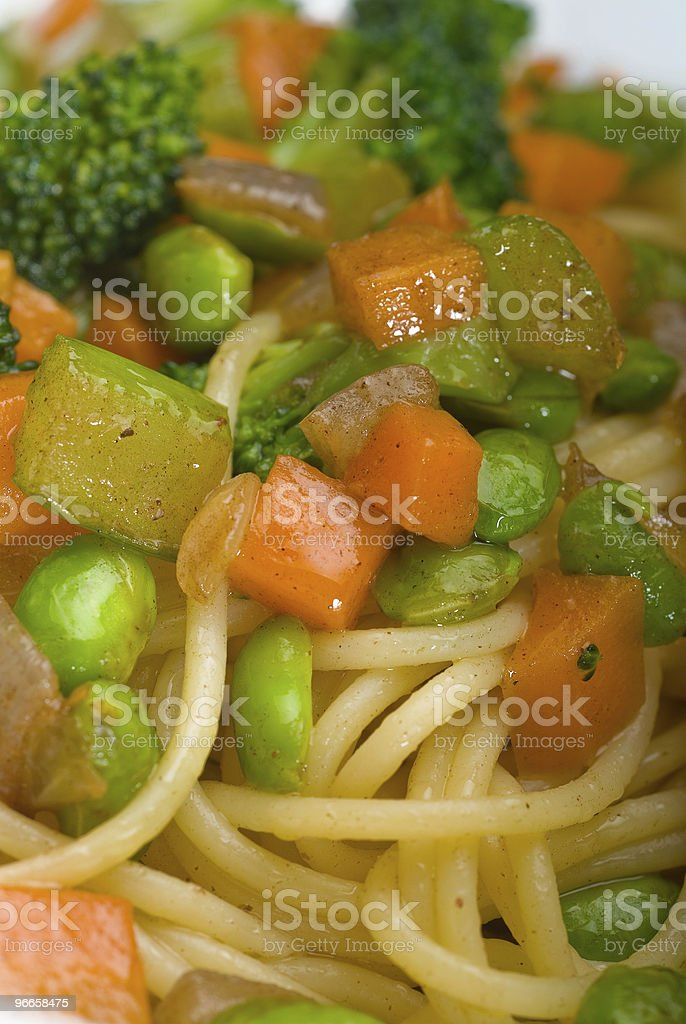 vegetable pasta royalty-free stock photo