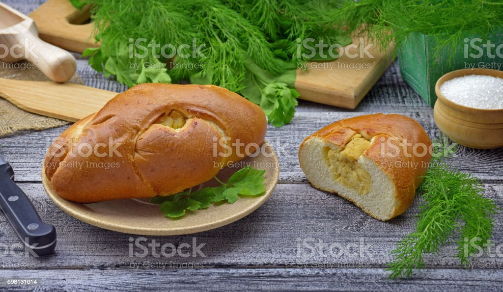 vegetable patties on a plate. stock photo