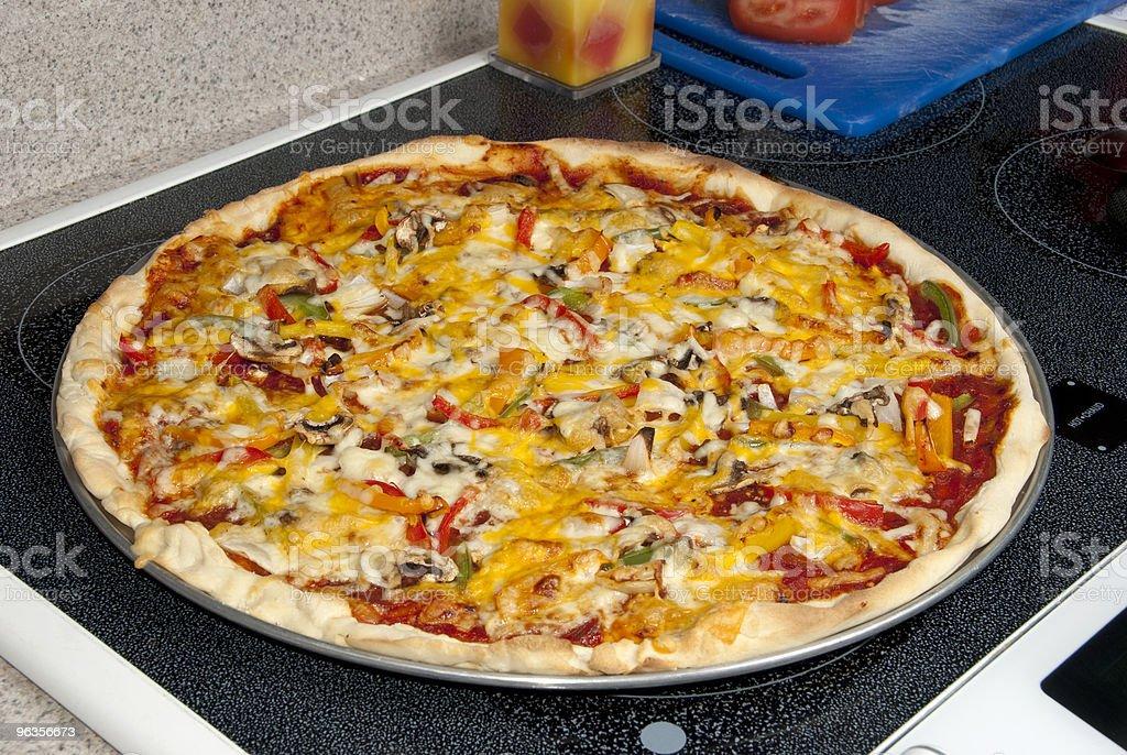 Vegetable Pizza Pie royalty-free stock photo