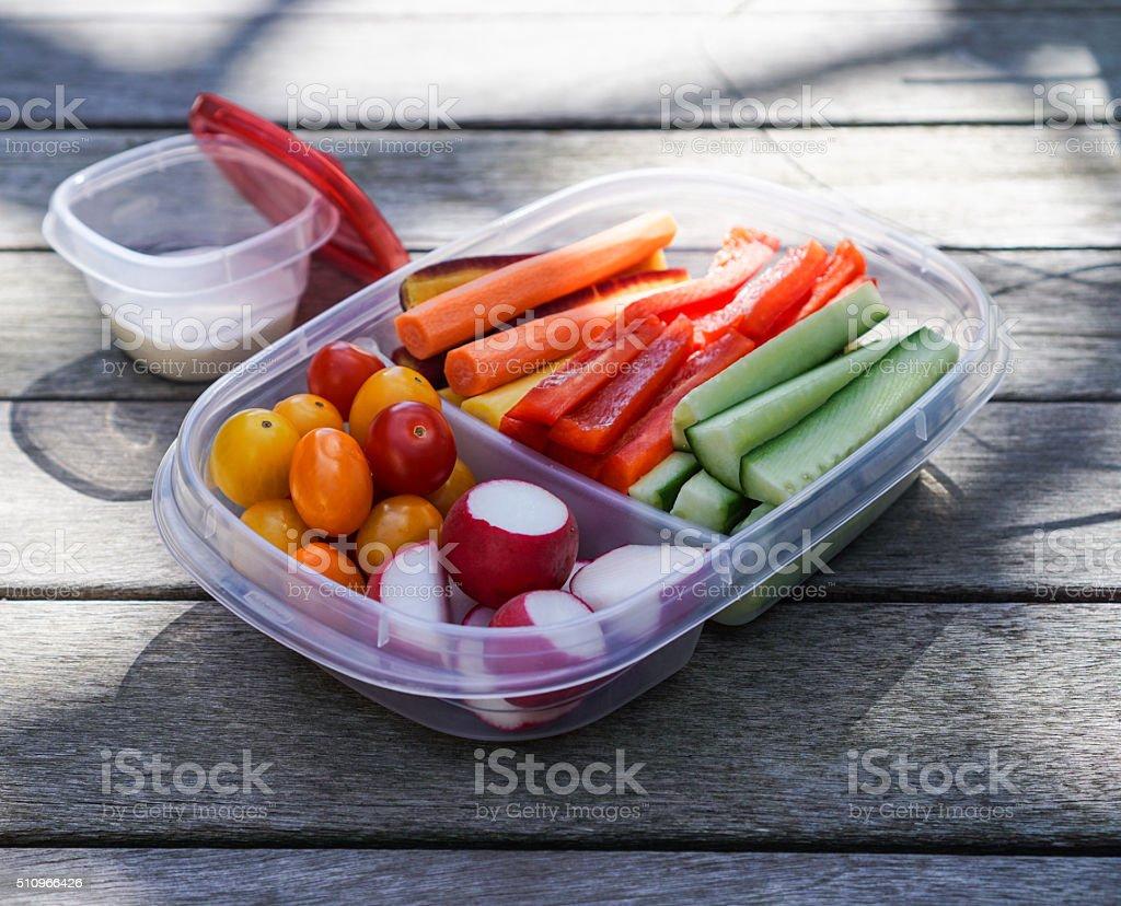 Vegetable platter, healthy eating stock photo