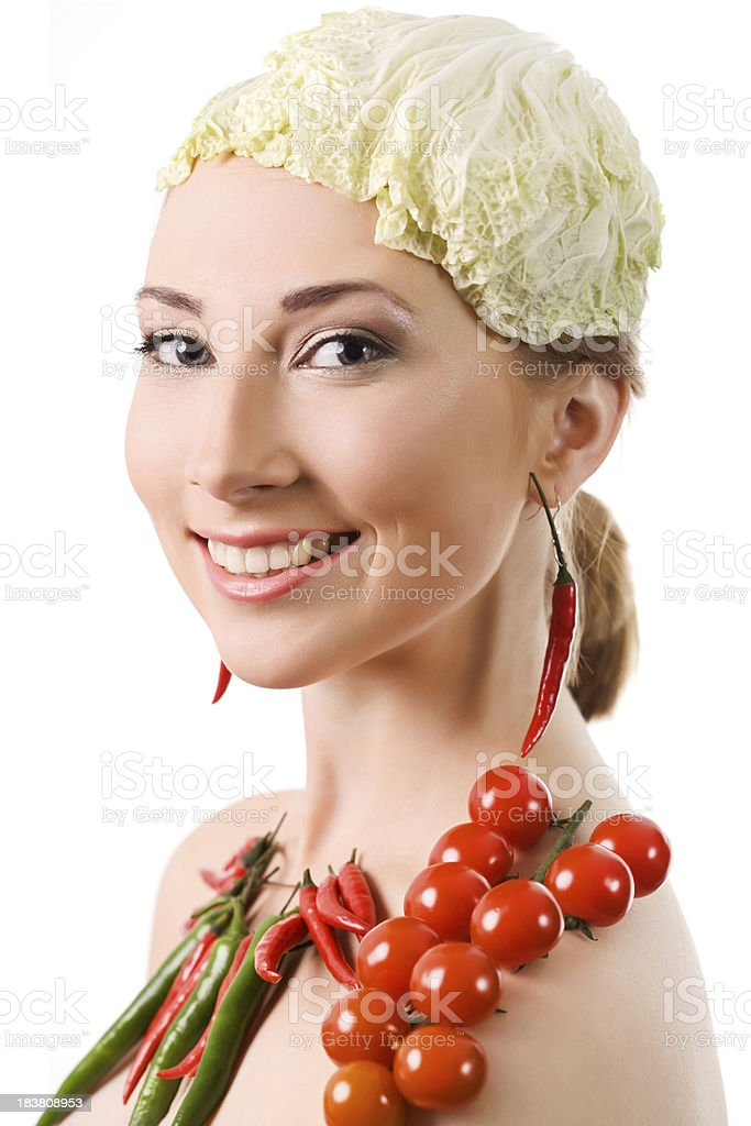 Vegetable portrait royalty-free stock photo