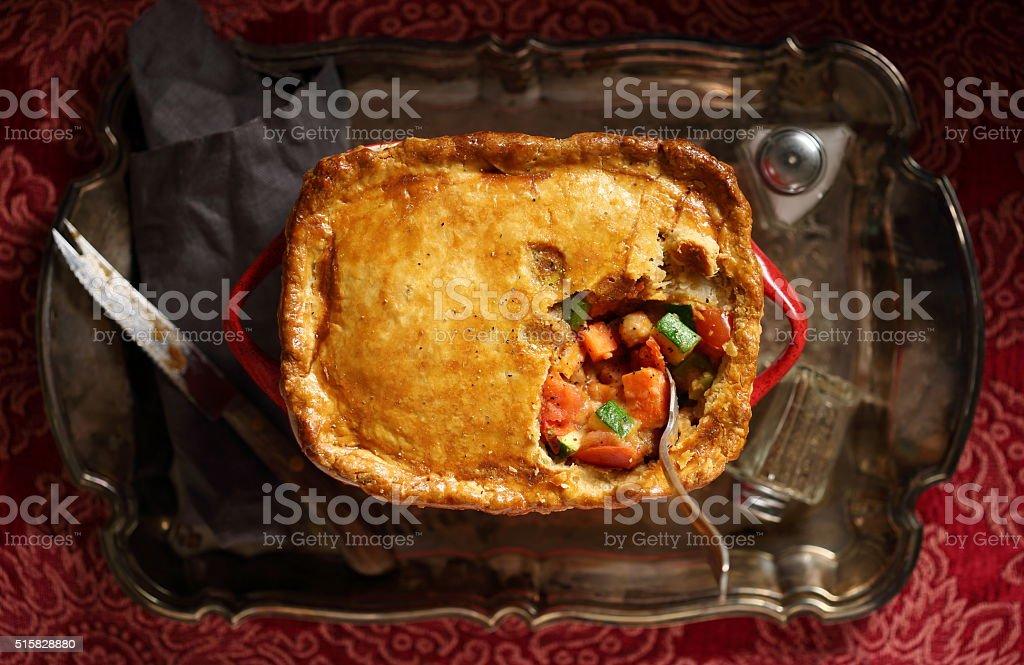 Vegetable Pot Pie stock photo