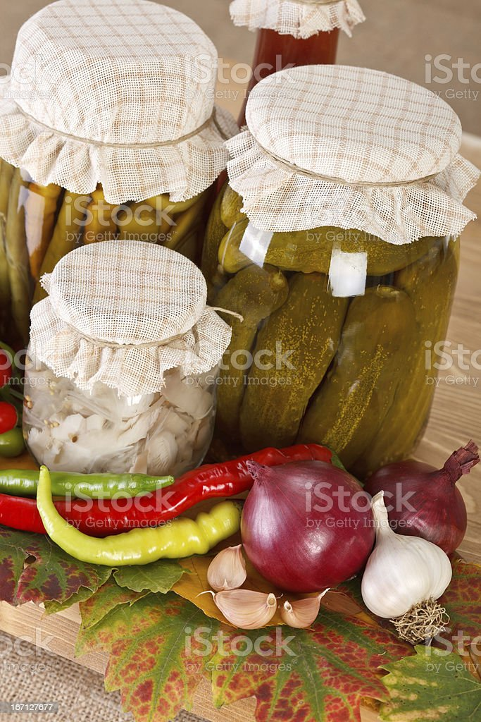 Vegetable preserves royalty-free stock photo