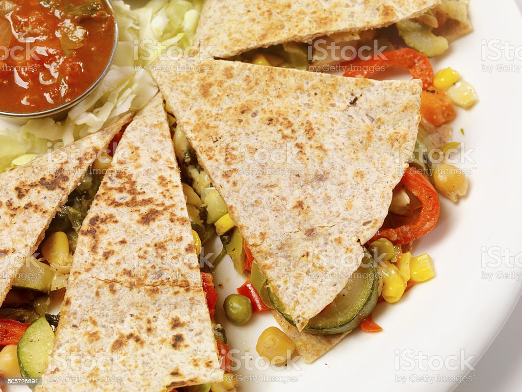 Vegetable Quesadilla royalty-free stock photo