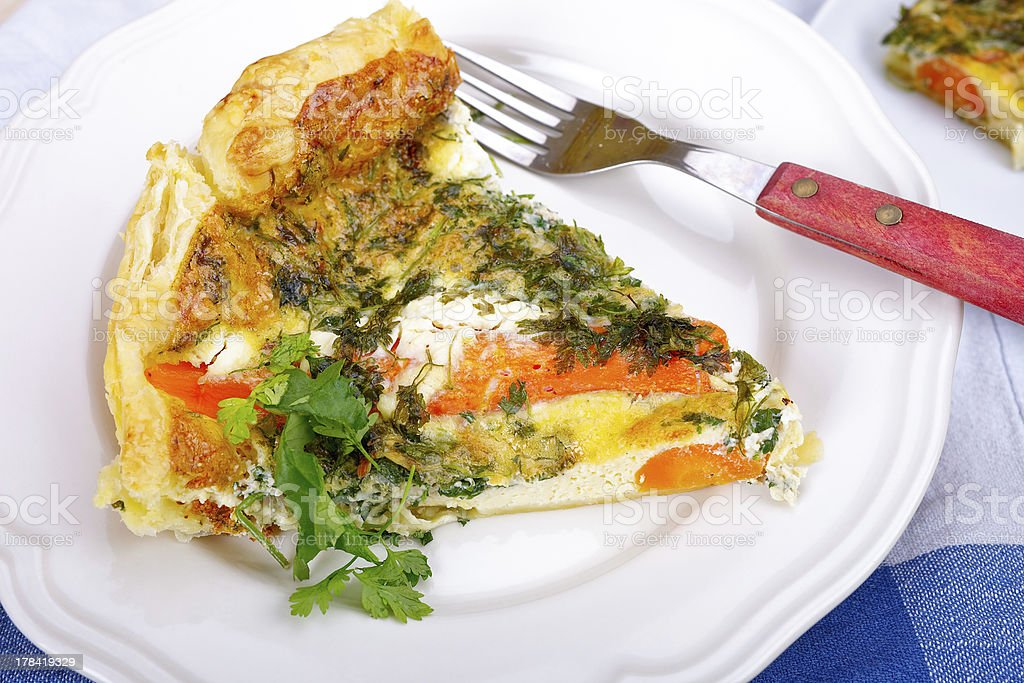 Vegetable quiche royalty-free stock photo