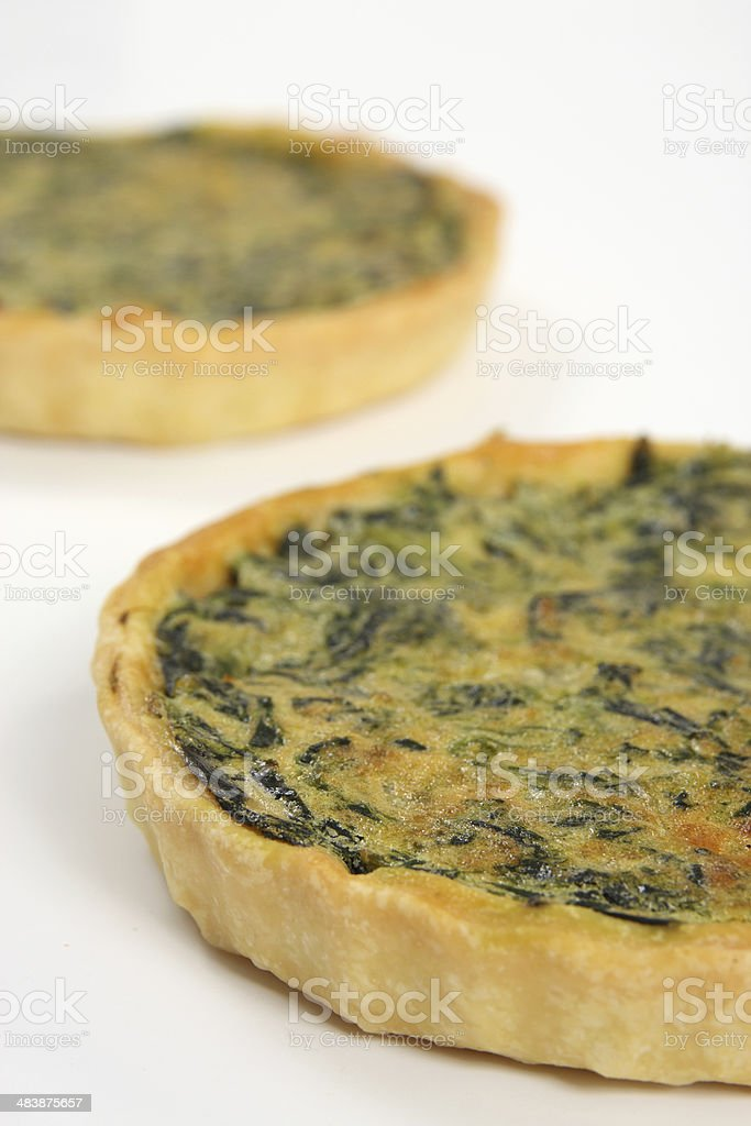 vegetable quiche stock photo