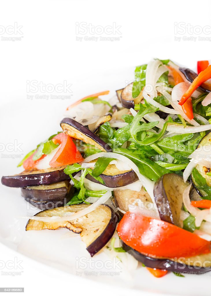 vegetable salad and cheese stock photo