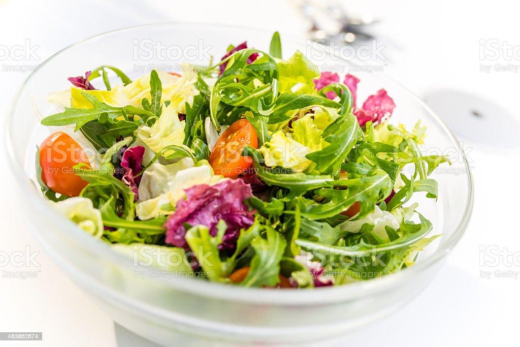 Vegetable salad, close-up stock photo