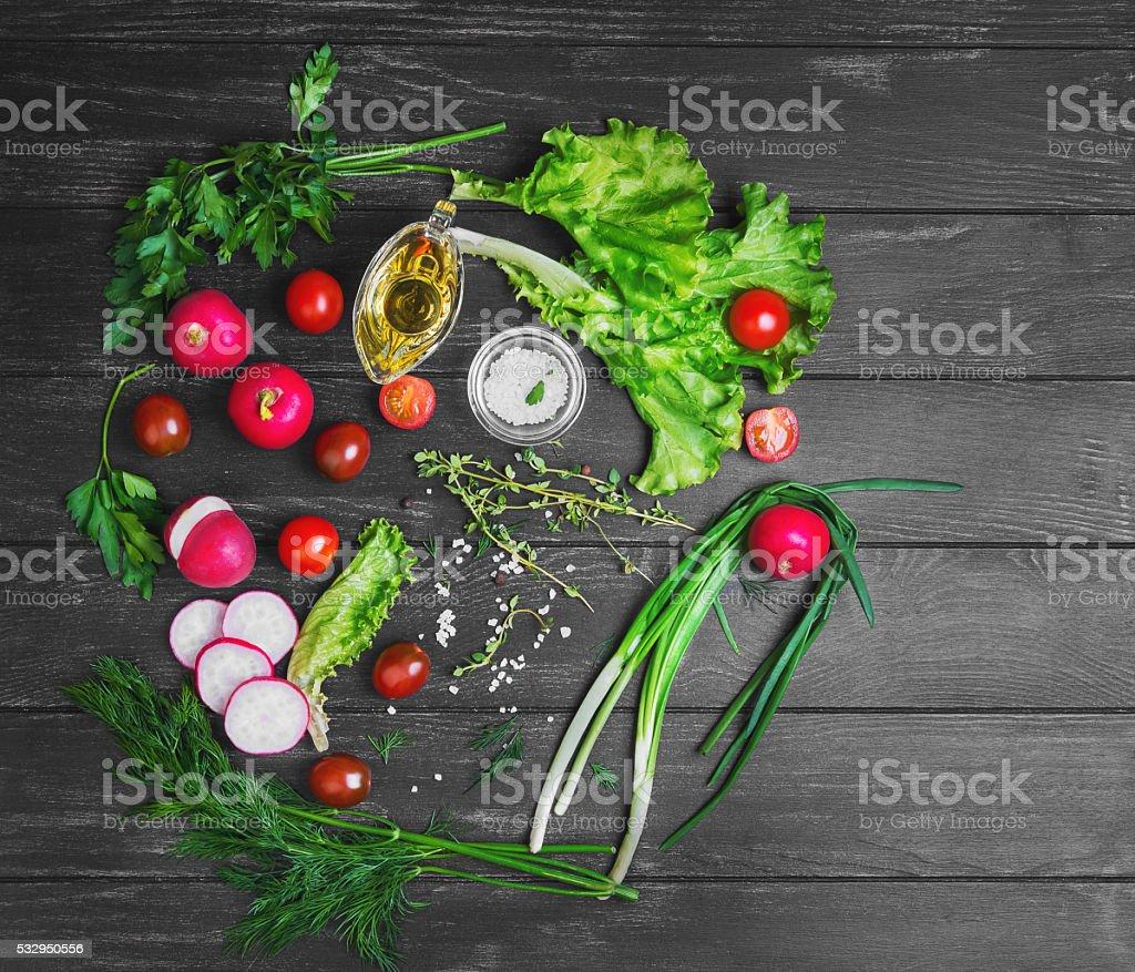 vegetable salad food photo stock photo