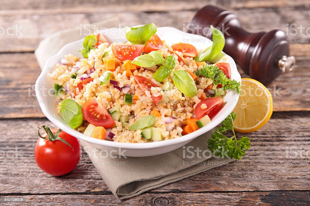 vegetable salad in bowl stock photo