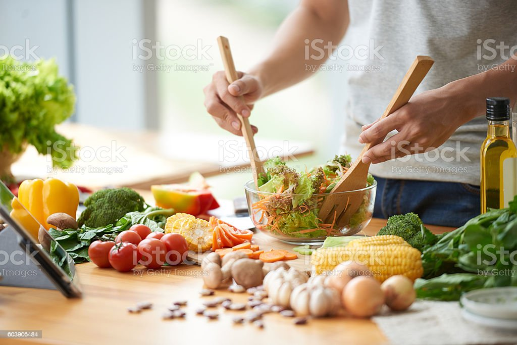 Vegetable salad stock photo