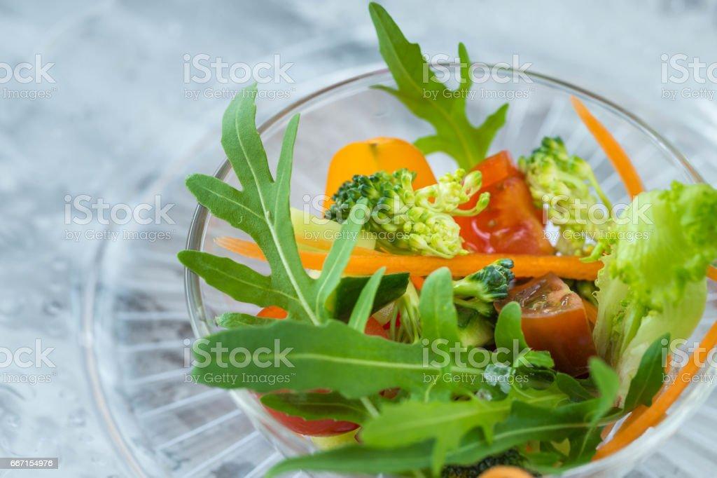 Vegetable Salad. Vegan stock photo