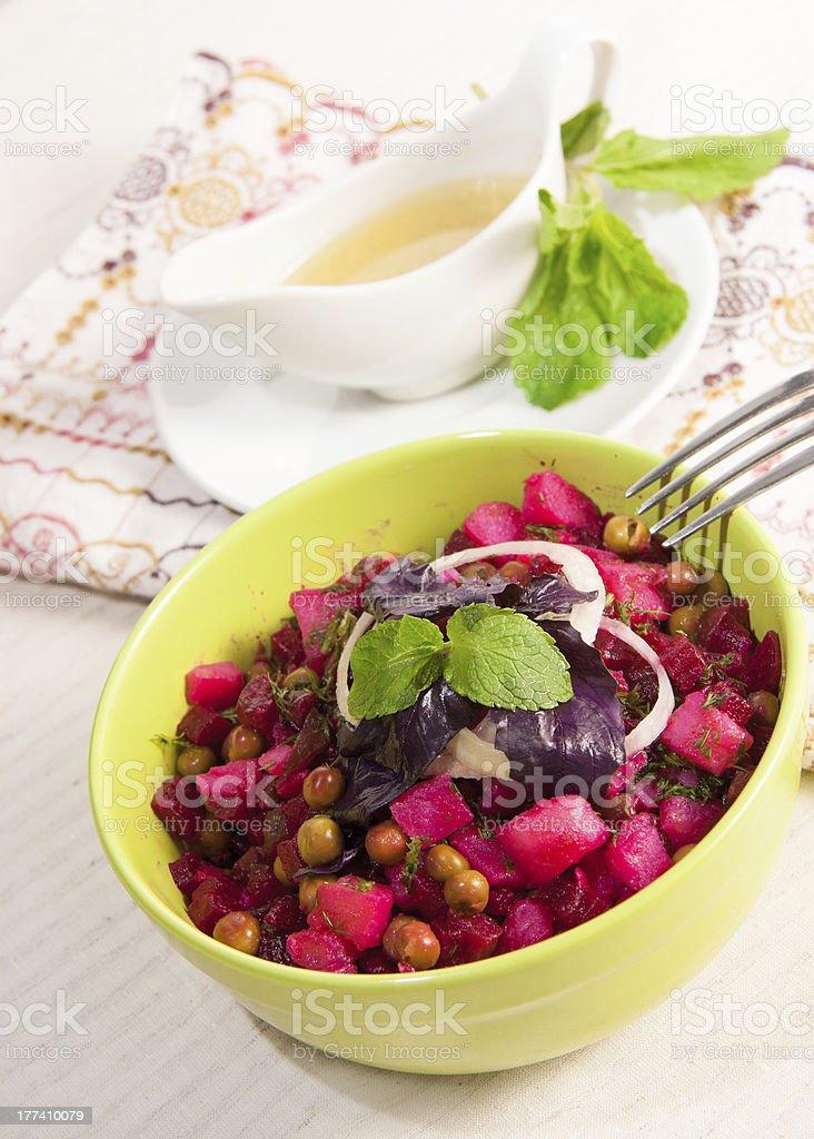 Vegetable Salad .Vinaigrette royalty-free stock photo