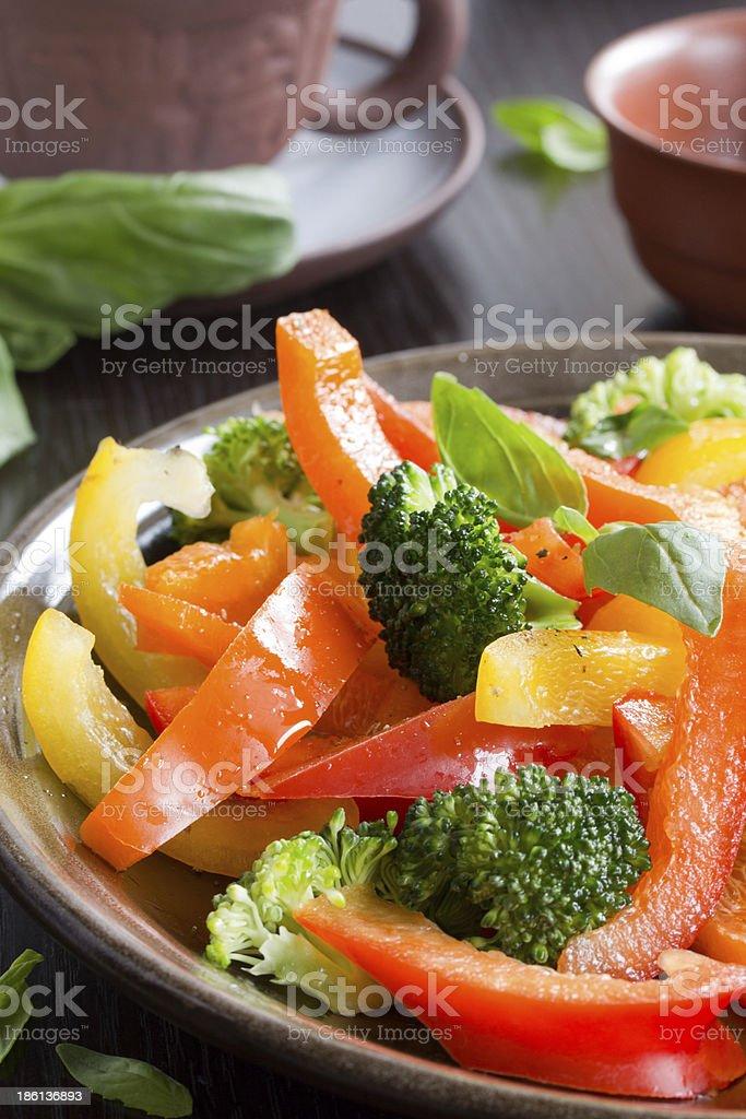 Vegetable salad with broccoli. royalty-free stock photo