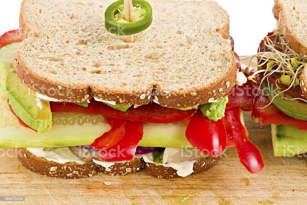 Vegetable Sandwich Macro royalty-free stock photo