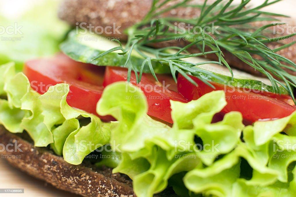 sandwich de légumes photo libre de droits