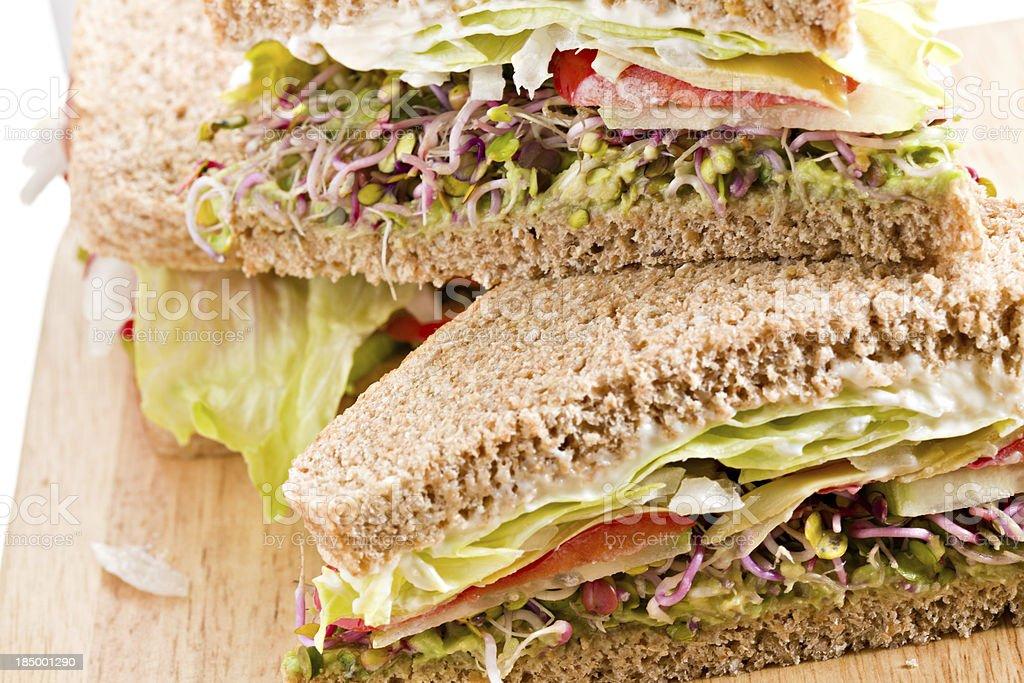 Vegetable Sandwich royalty-free stock photo
