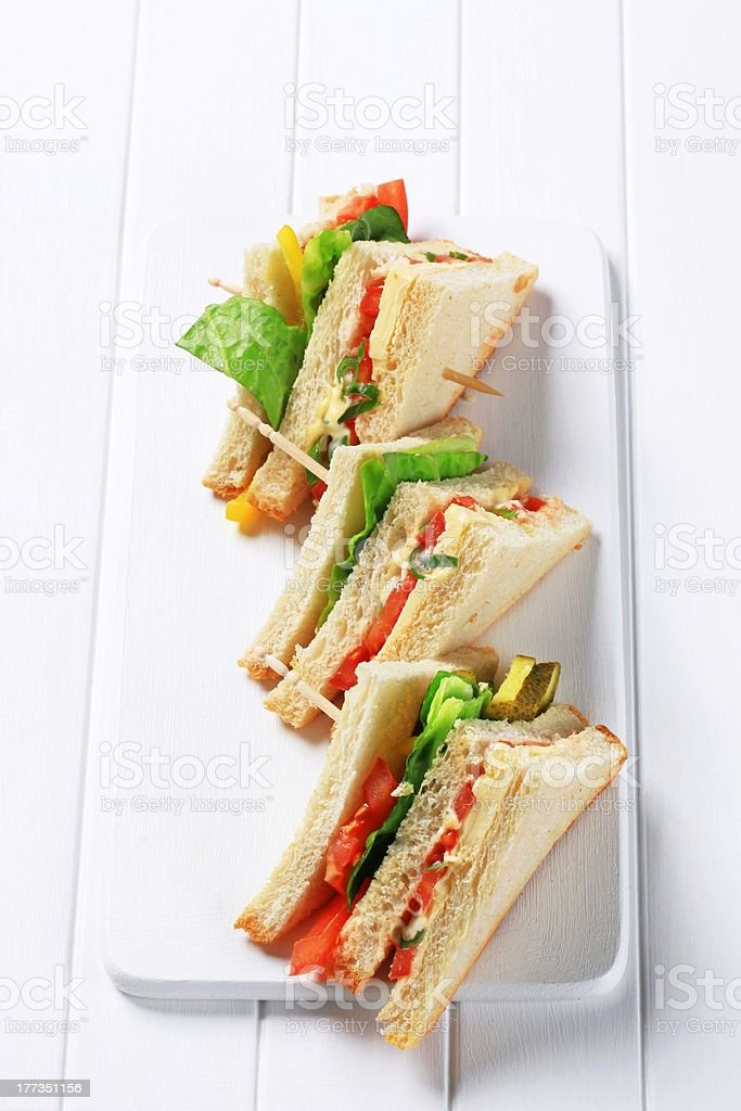 Vegetable Sandwiches royalty-free stock photo