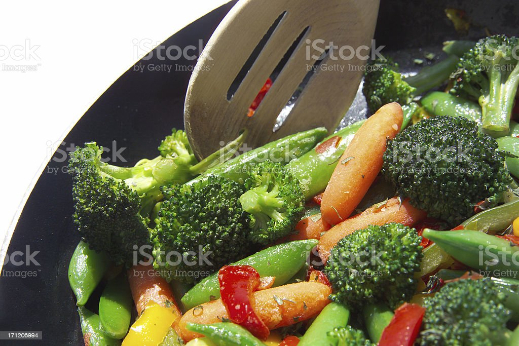 vegetable saute stock photo