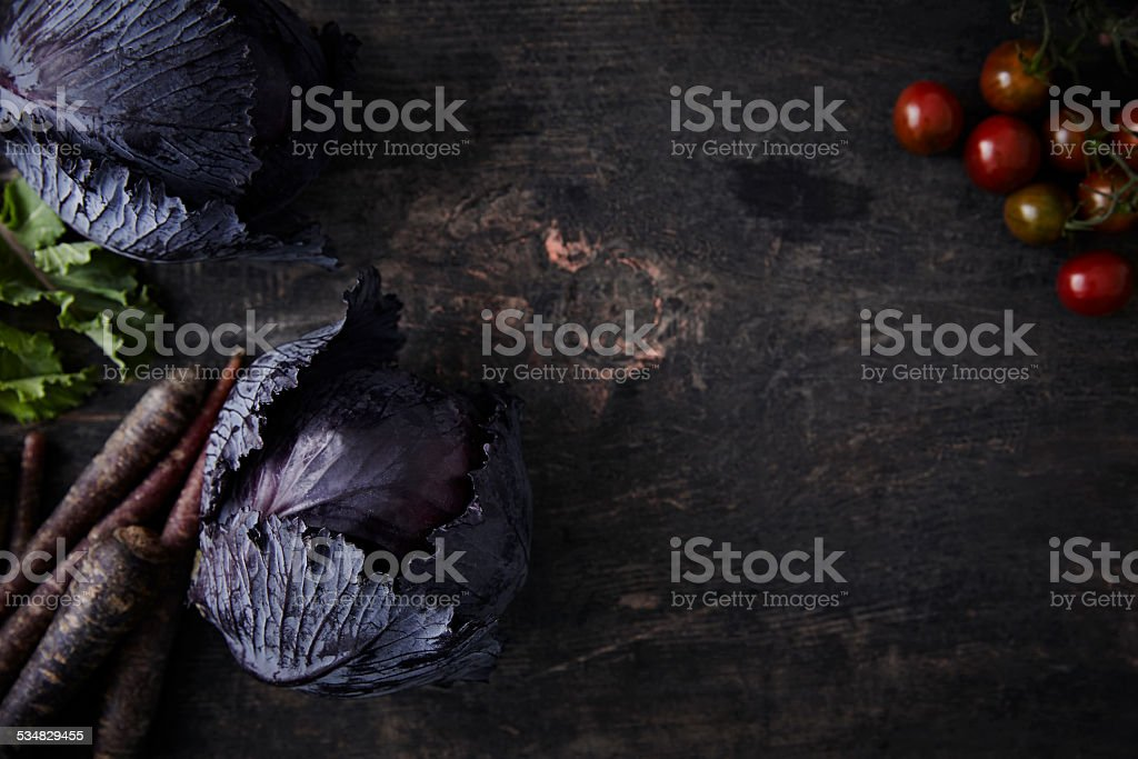 Vegetable series - Red cabbage stock photo