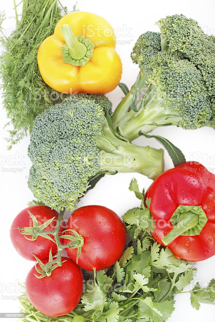 Vegetable set for a healthy diet royalty-free stock photo
