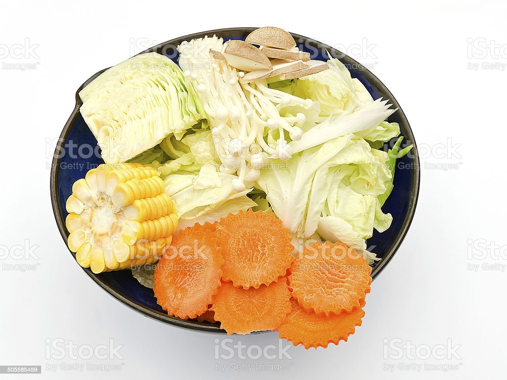 vegetable set in bowl stock photo