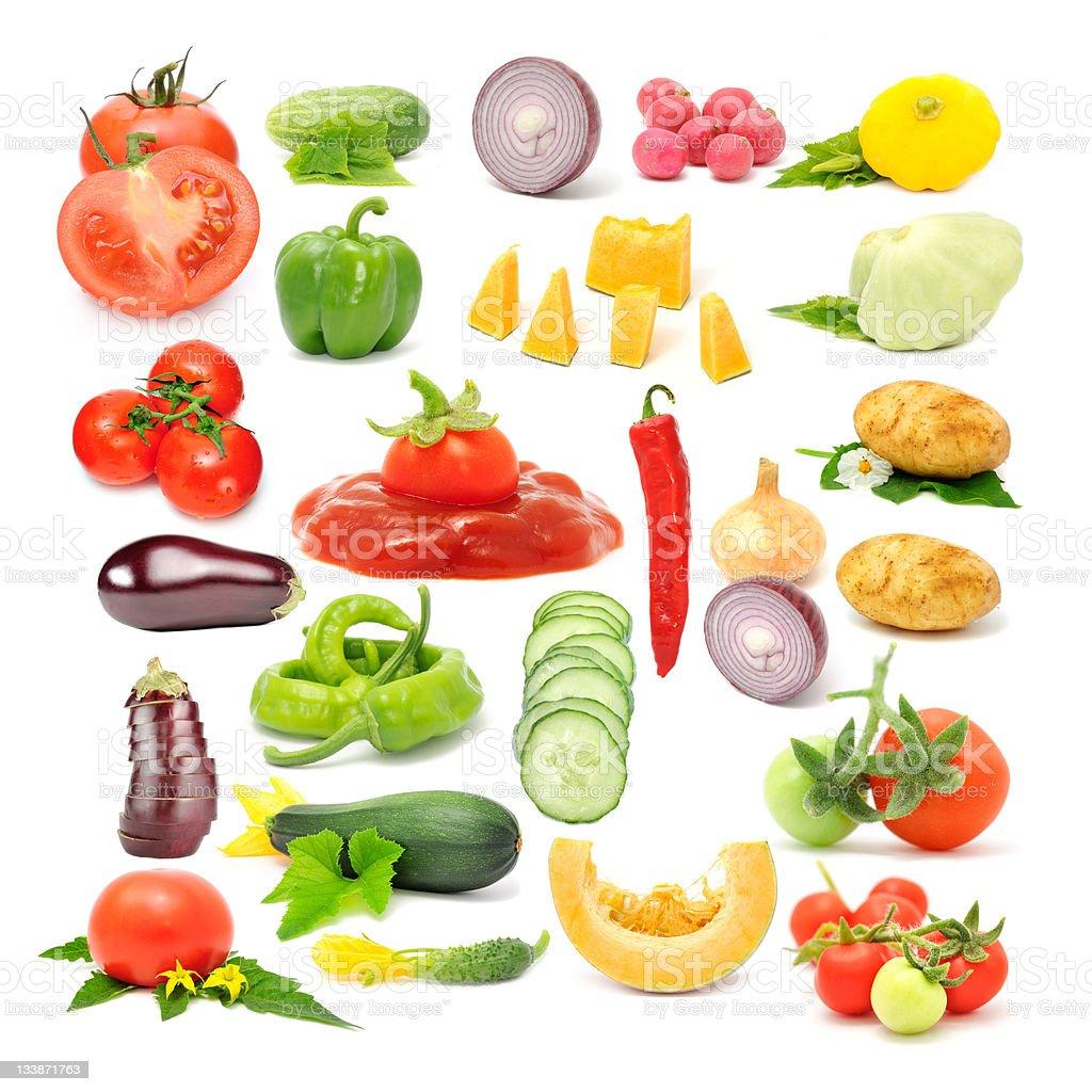 Vegetable Set Isolated on White Background royalty-free stock photo