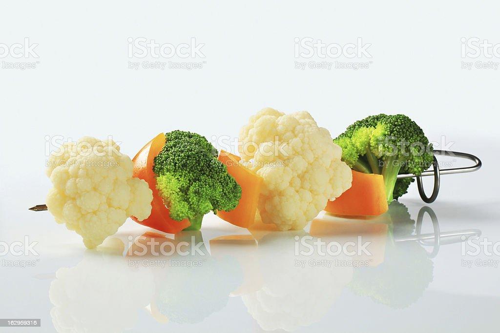 Vegetable skewer royalty-free stock photo