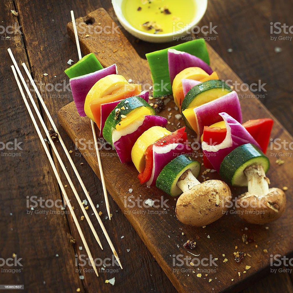 vegetable skewers royalty-free stock photo