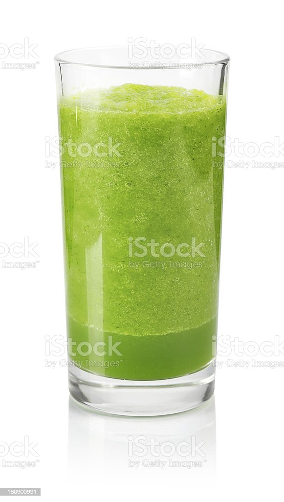 Vegetable smoothie made of spinach and cucumber stock photo