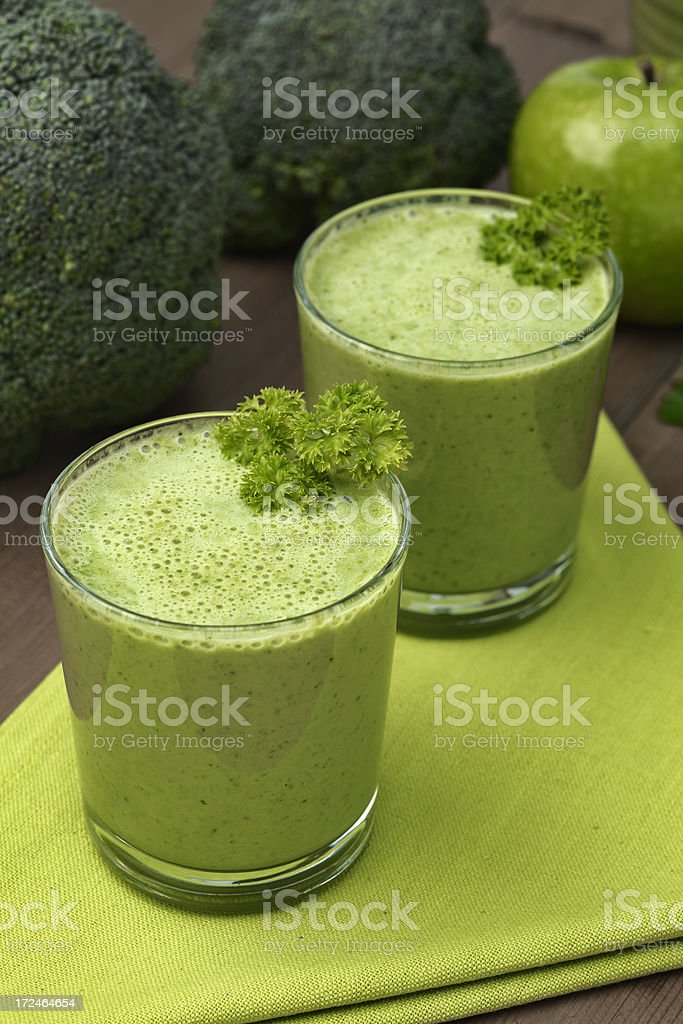 Vegetable smoothie royalty-free stock photo