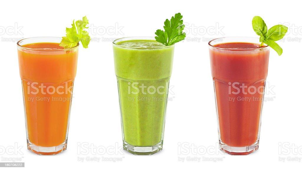 Vegetable smoothies stock photo