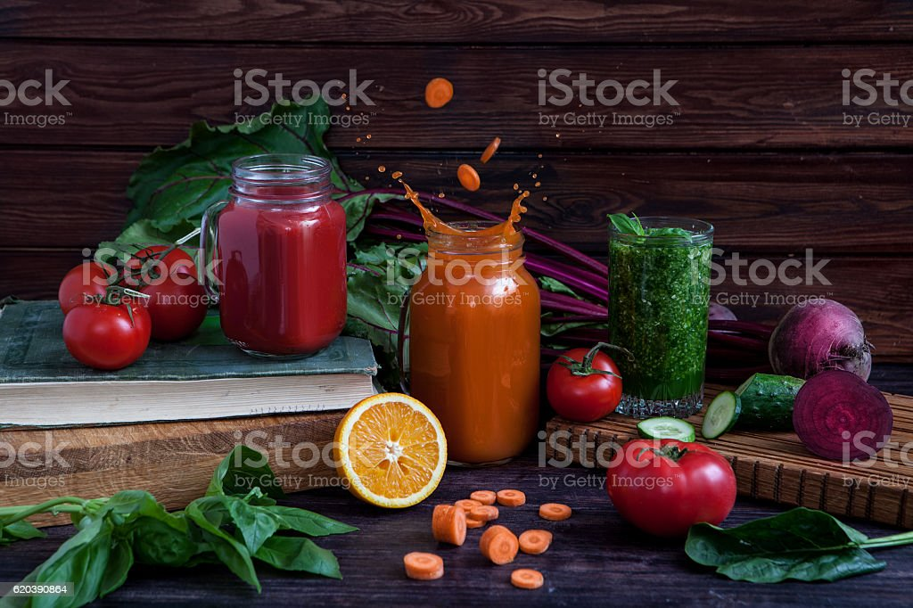 vegetable smoothies stock photo