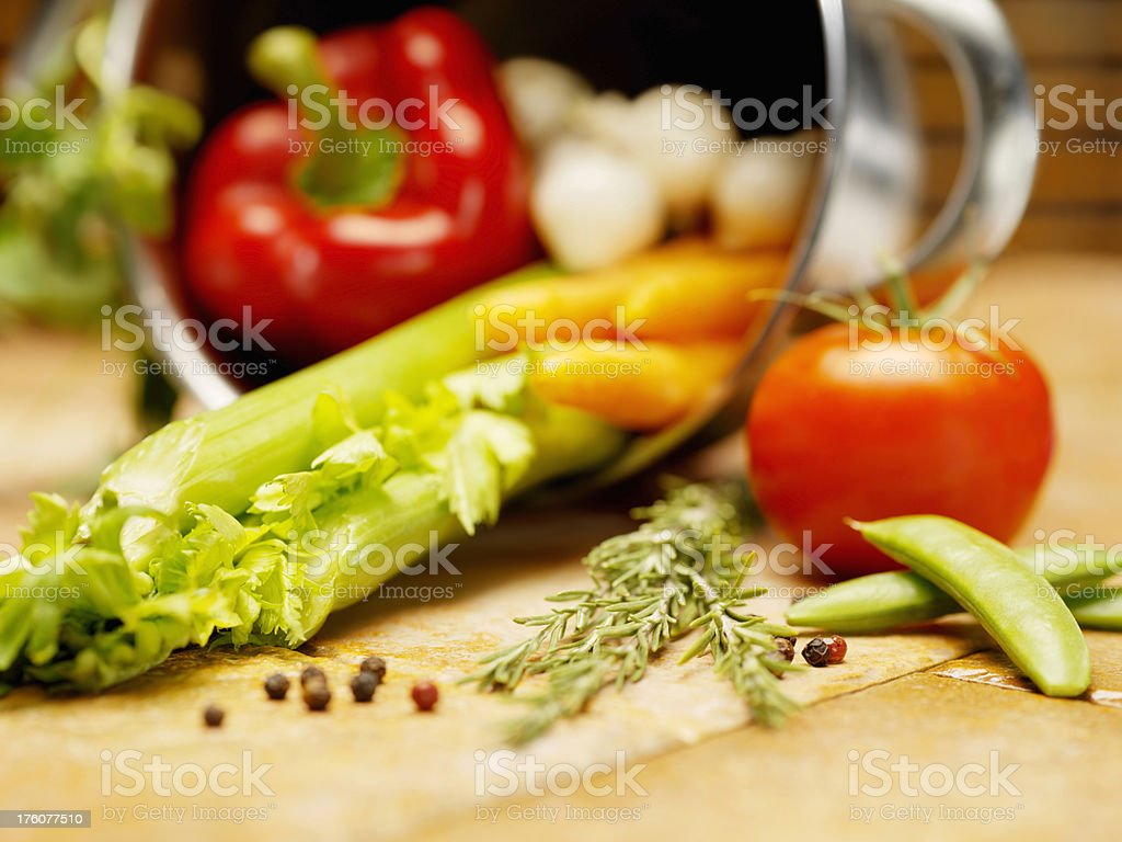 Vegetable Soup Ingredients royalty-free stock photo