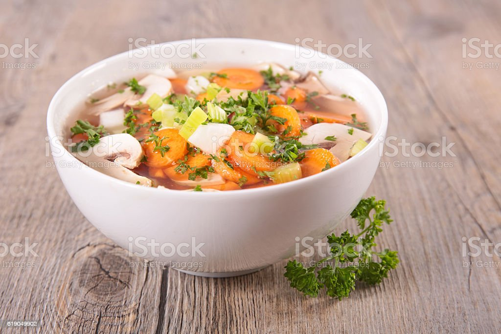 vegetable soup stock photo