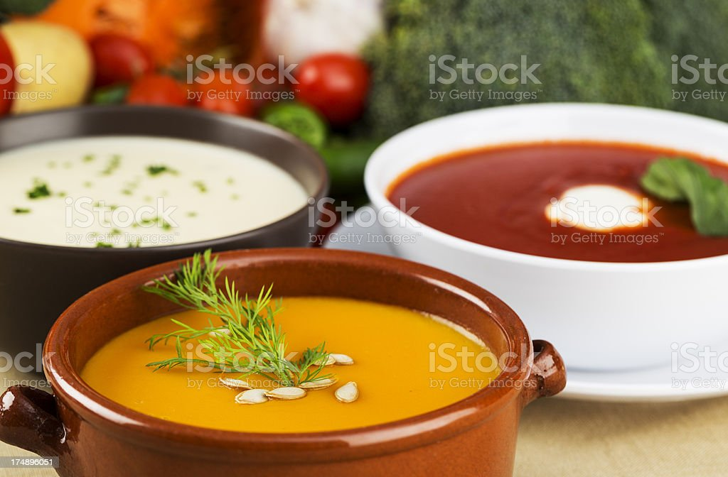 Vegetable soups royalty-free stock photo