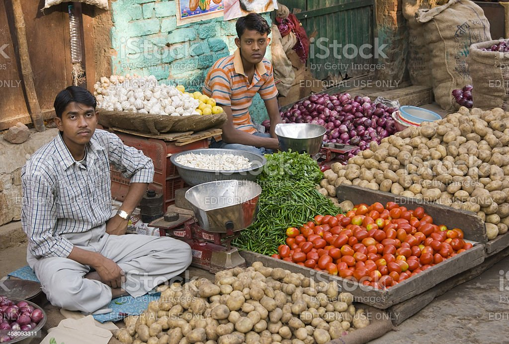 Vegetable Stall in Old Delhi royalty-free stock photo