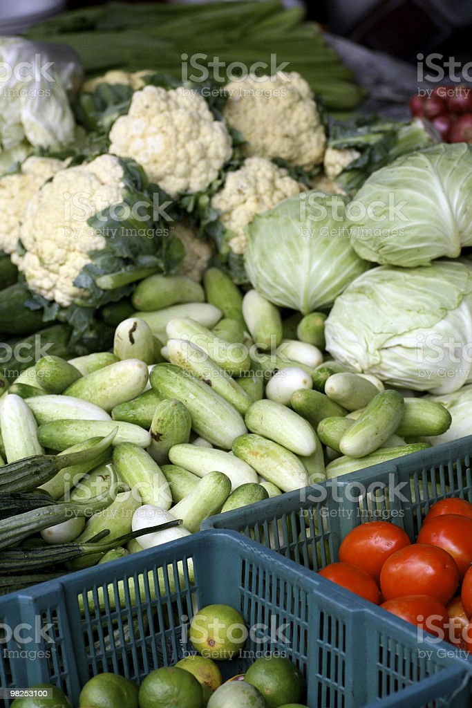 Vegetable stall royalty-free stock photo