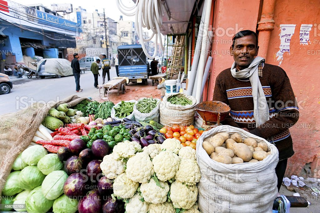 Vegetable stallholder royalty-free stock photo