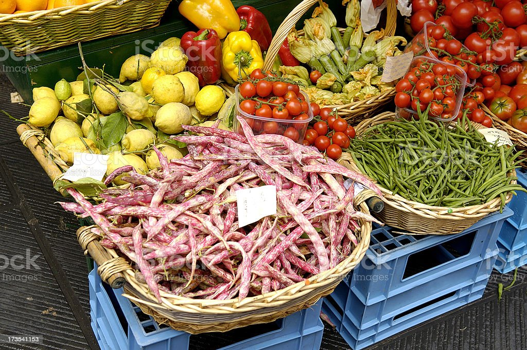 Vegetable stand in Cinque Terre, Italy royalty-free stock photo