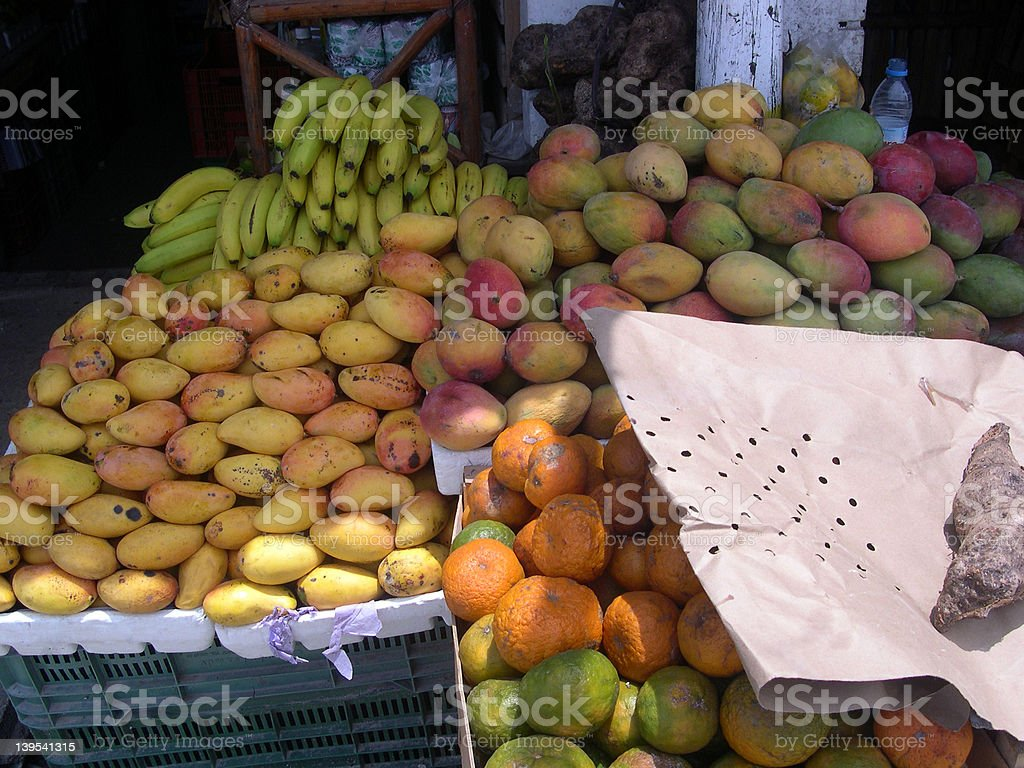 vegetable stand stock photo