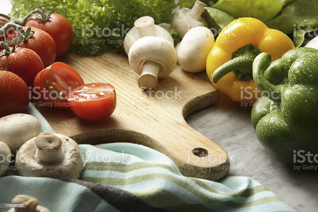 Vegetable Stills: Food Preparation royalty-free stock photo