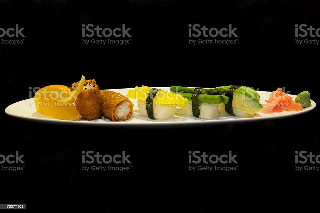 Vegetable Sushi stock photo