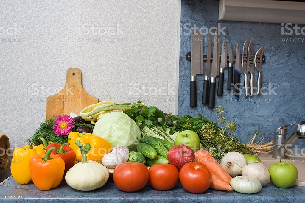 Vegetable table royalty-free stock photo
