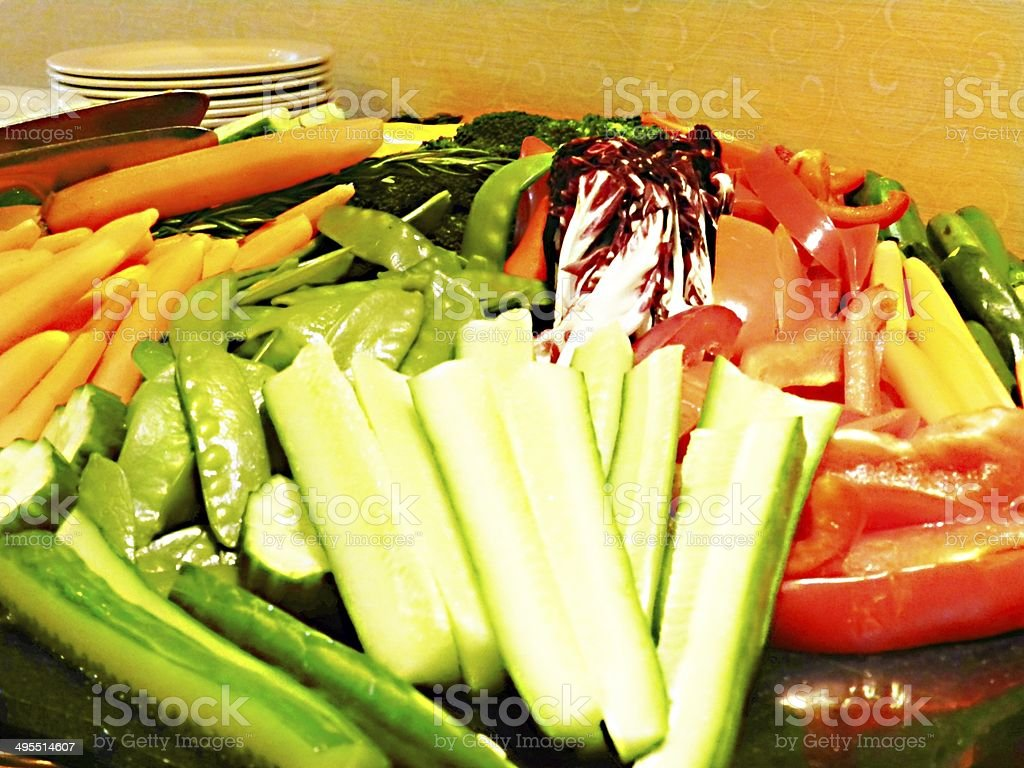 vegetable tray stock photo