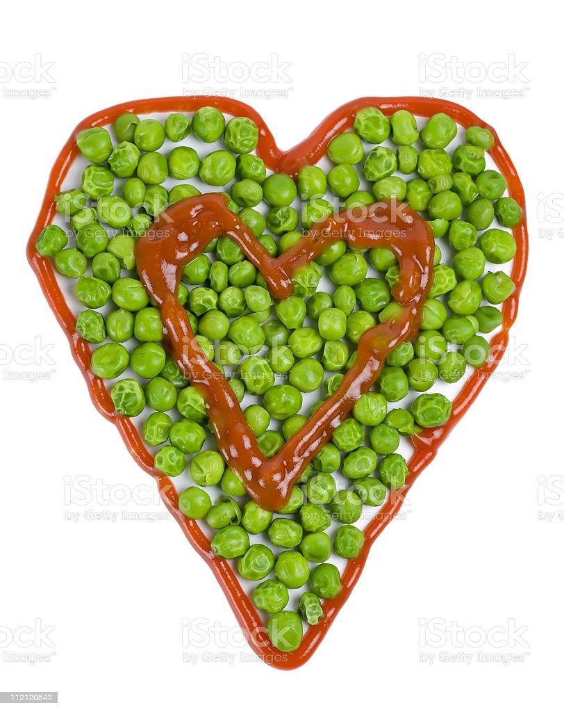 Vegetable Valentine royalty-free stock photo