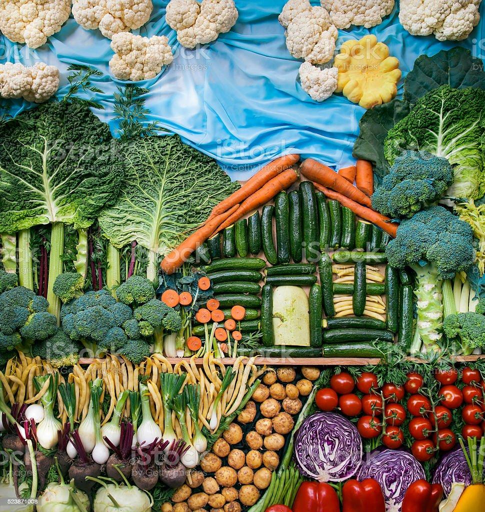 Vegetable world stock photo